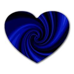 Blue decorative twist Heart Mousepads