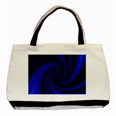 Blue decorative twist Basic Tote Bag (Two Sides)