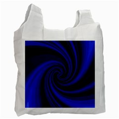 Blue decorative twist Recycle Bag (Two Side)