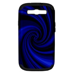 Blue decorative twist Samsung Galaxy S III Hardshell Case (PC+Silicone)