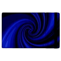 Blue decorative twist Apple iPad 2 Flip Case