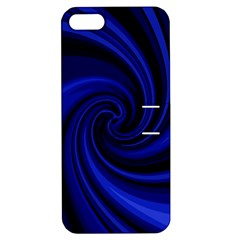 Blue decorative twist Apple iPhone 5 Hardshell Case with Stand