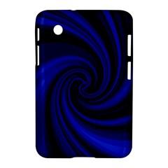 Blue decorative twist Samsung Galaxy Tab 2 (7 ) P3100 Hardshell Case