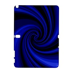 Blue decorative twist Samsung Galaxy Note 10.1 (P600) Hardshell Case
