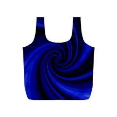 Blue decorative twist Full Print Recycle Bags (S)