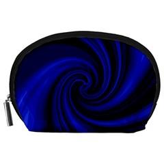 Blue decorative twist Accessory Pouches (Large)