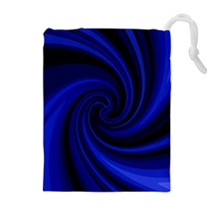 Blue decorative twist Drawstring Pouches (Extra Large)