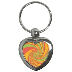 Green and orange twist Key Chains (Heart)
