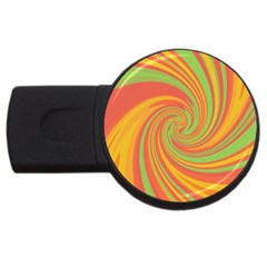 Green and orange twist USB Flash Drive Round (2 GB)
