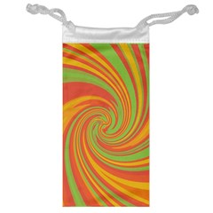 Green and orange twist Jewelry Bags