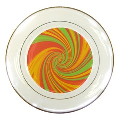 Green and orange twist Porcelain Plates