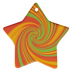 Green and orange twist Star Ornament (Two Sides)