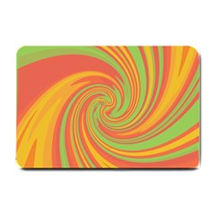 Green and orange twist Small Doormat