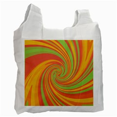 Green and orange twist Recycle Bag (Two Side)