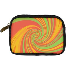 Green and orange twist Digital Camera Cases