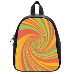 Green and orange twist School Bags (Small)