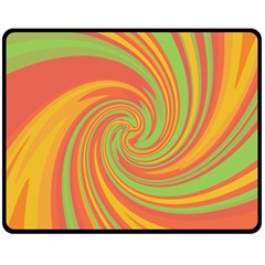 Green and orange twist Fleece Blanket (Medium)