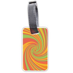 Green and orange twist Luggage Tags (One Side)