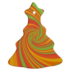 Green and orange twist Christmas Tree Ornament (2 Sides)