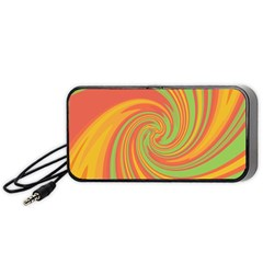Green and orange twist Portable Speaker (Black)