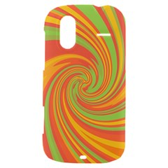Green and orange twist HTC Amaze 4G Hardshell Case
