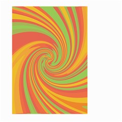 Green and orange twist Large Garden Flag (Two Sides)