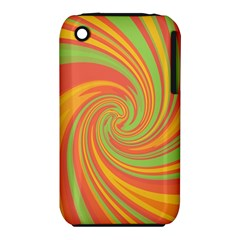 Green and orange twist Apple iPhone 3G/3GS Hardshell Case (PC+Silicone)