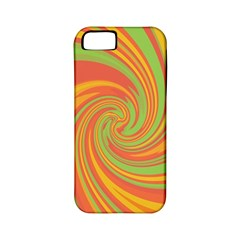 Green and orange twist Apple iPhone 5 Classic Hardshell Case (PC+Silicone)