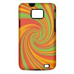 Green and orange twist Samsung Galaxy S II i9100 Hardshell Case (PC+Silicone)