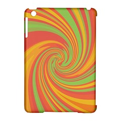 Green and orange twist Apple iPad Mini Hardshell Case (Compatible with Smart Cover)