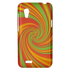Green and orange twist HTC Desire VT (T328T) Hardshell Case