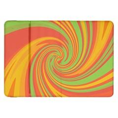 Green and orange twist Samsung Galaxy Tab 8.9  P7300 Flip Case