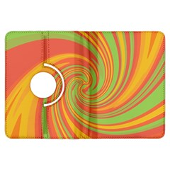 Green and orange twist Kindle Fire HDX Flip 360 Case
