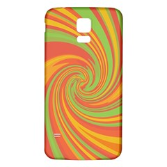 Green and orange twist Samsung Galaxy S5 Back Case (White)