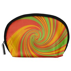 Green and orange twist Accessory Pouches (Large)