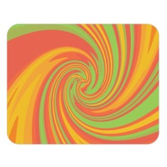 Green and orange twist Double Sided Flano Blanket (Large)