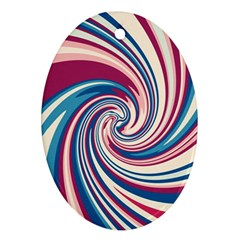 Lollipop Oval Ornament (Two Sides)