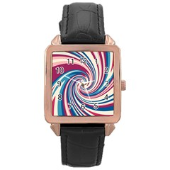 Lollipop Rose Gold Leather Watch