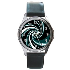 Elegant twist Round Metal Watch