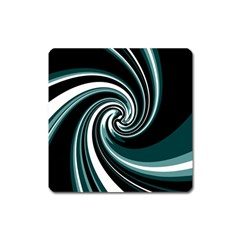 Elegant twist Square Magnet