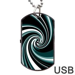 Elegant twist Dog Tag USB Flash (Two Sides)