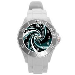 Elegant twist Round Plastic Sport Watch (L)