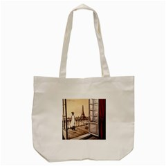Paws For Thought  Paris Tote Bag (Cream)