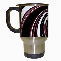 Decorative twist Travel Mugs (White)