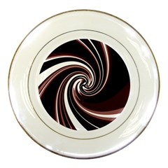 Decorative twist Porcelain Plates