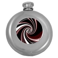 Decorative twist Round Hip Flask (5 oz)