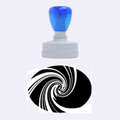 Decorative twist Rubber Oval Stamps