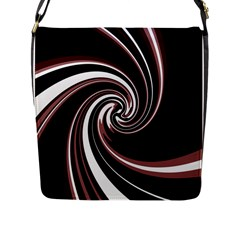 Decorative twist Flap Messenger Bag (L)
