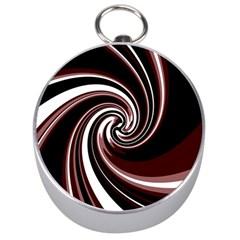 Decorative twist Silver Compasses