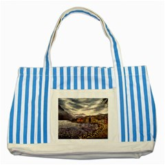 Italian Lake Garda Striped Blue Tote Bag